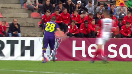 Video «Fussball: Schweizer Cup, 1. Runde: Solothurn -Thun, Tor Frontino 1:0» abspielen
