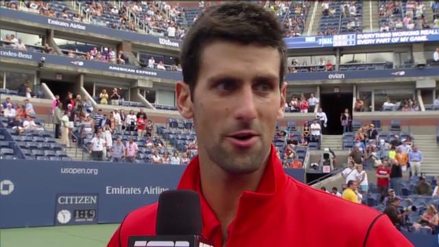Tennis: US Open, Platzinterview Djokovic