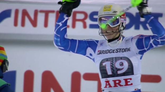 Video «Ski alpin: Weltcup, Slalom Frauen Are, Vlhova Sieg» abspielen