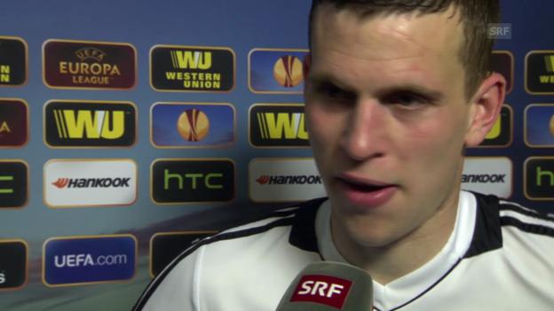 Video «Fussball: Interview mit Fabian Frei («sportlive», 13.3.14)» abspielen