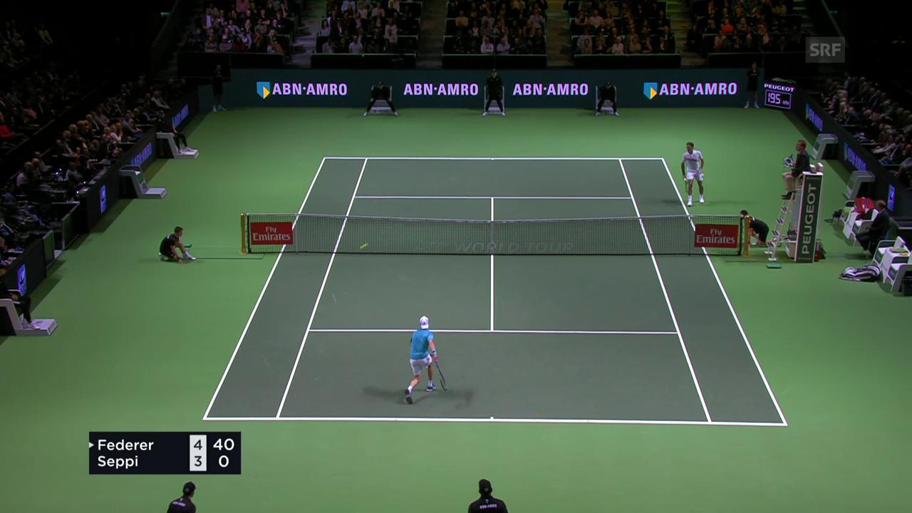 Federer zaubert am Netz