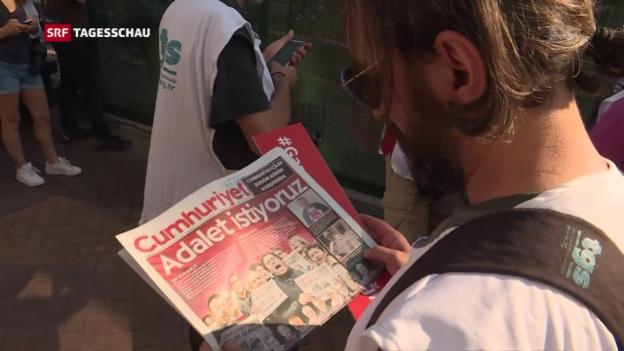 Video «In der Türkei beginnt «Cumhuriyet»-Prozess» abspielen