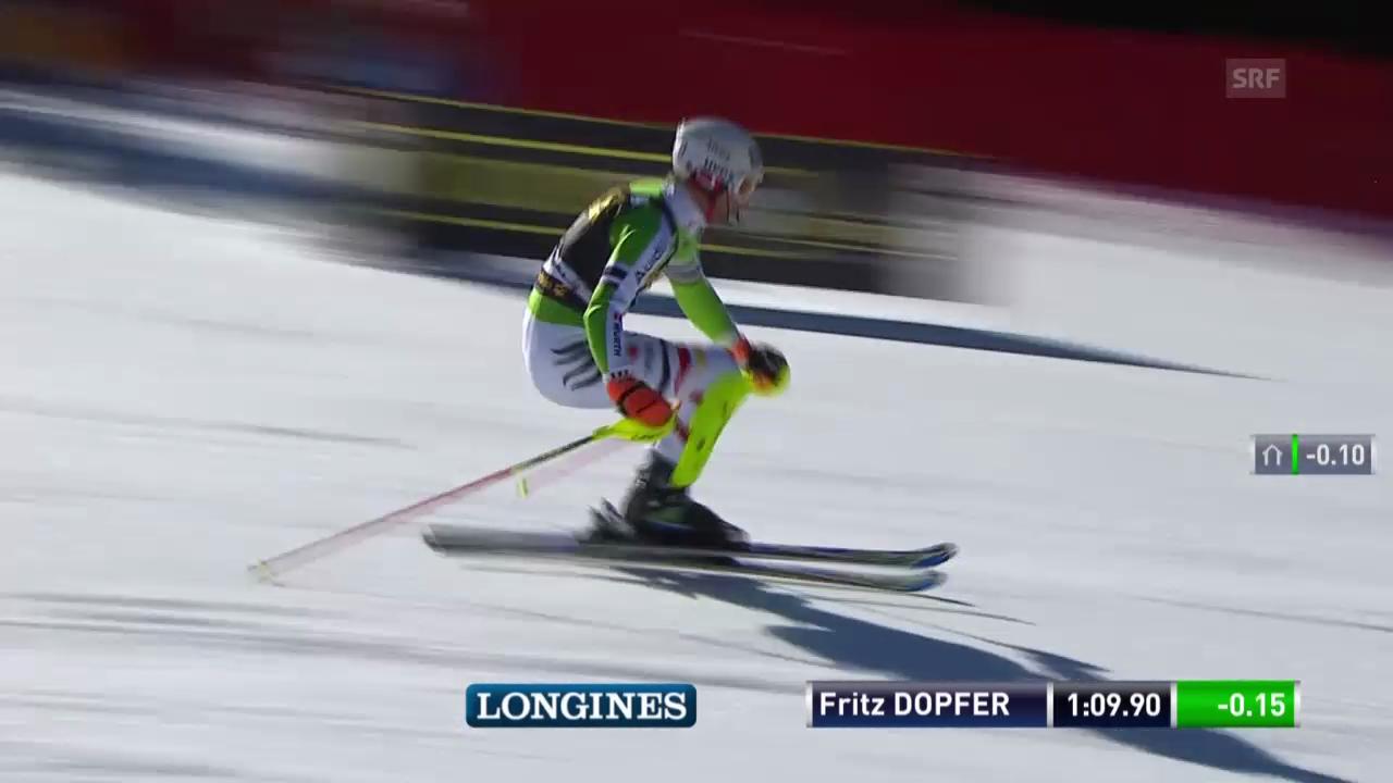 Ski Alpin: Slalom Kranjska Gora, 2. Lauf Fritz Dopfer («sportlive», 9.3.2014)