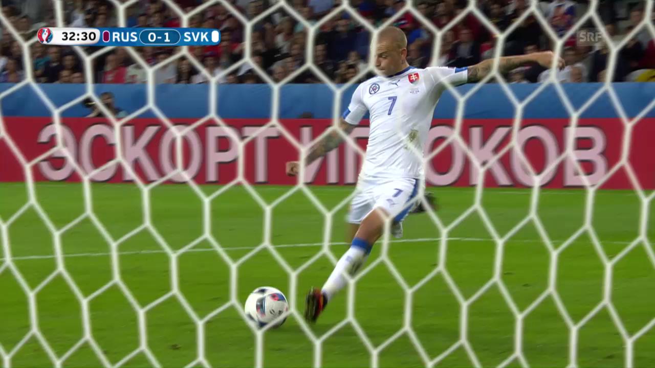 Die Live-Highlights bei Russland - Slowakei