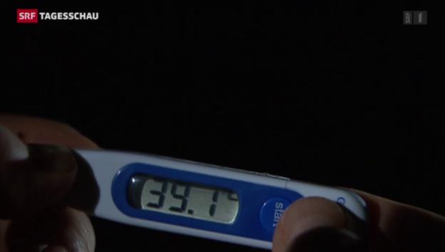 Video «Grippewelle fesselt Schweizerinnen und Schweizer ans Bett» abspielen