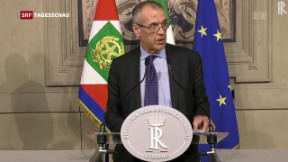 Video «Cottarelli soll Italien zu Neuwahlen führen» abspielen