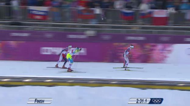 Video «Langlauf: Sprint Frauen, Final (Sotschi direkt, 11.02.2014)» abspielen
