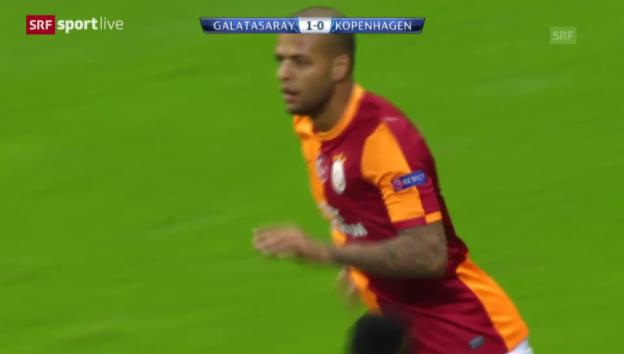 Video «Felipe Melos Treffer gegen Kopenhagen («sportlive», 23.10.2013)» abspielen