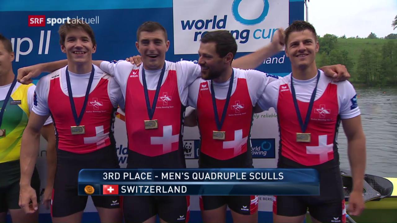 Schweizer gewinnen Silber und Bronze am Rotsee