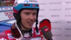 Video «Henrik Kristoffersen nach seinem Sieg am «Chuenisbärgli»» abspielen
