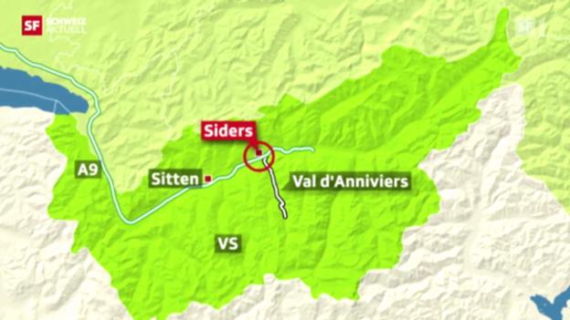 Video «Trauer und Entsetzen nach Carunglück im Wallis» abspielen