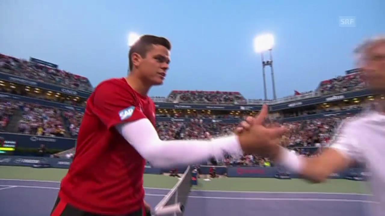 Tennis: Raonics Matchball gegen Benneteau