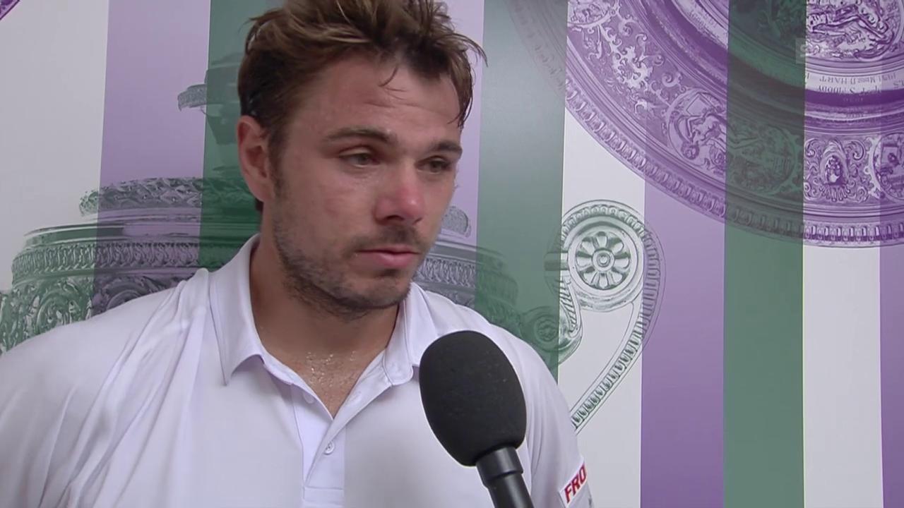 Tennis: Wimbledon, Wawrinka im Platzinterview