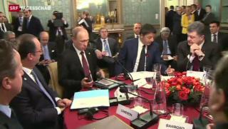 Video «Minimale Annäherung zwischen Russland und der Ukraine» abspielen