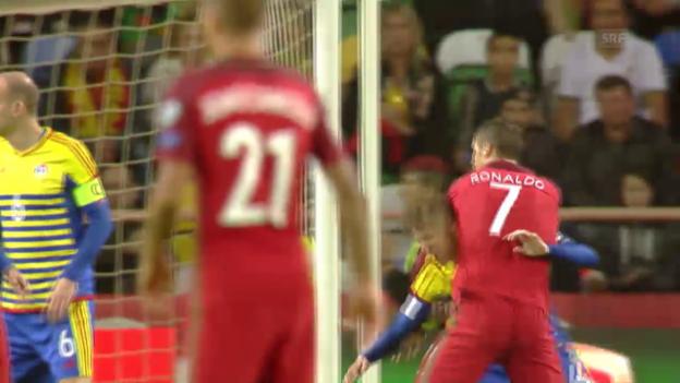 Video «Ronaldo nach «Ringkampf» doch noch mit dem 1:0» abspielen