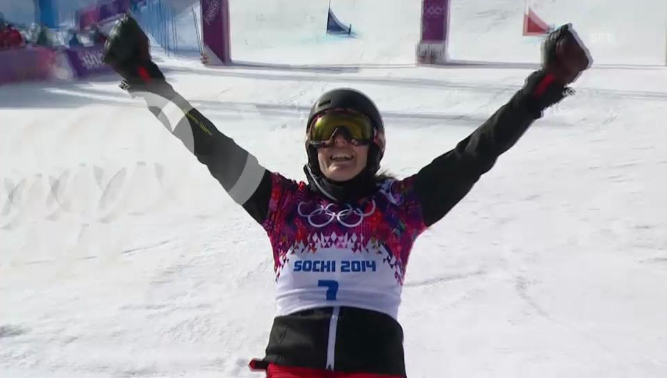 Snowboard: Parallel-RS, Final, 2. Lauf von Patrizia Kummer (sotschi direkt, 19.2.14)