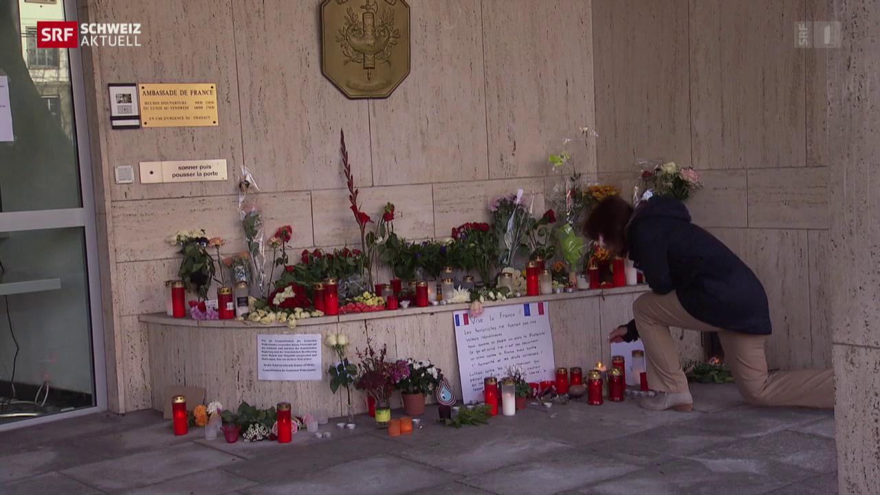 Trauer und Verarbeitung für Franzosen in Bern