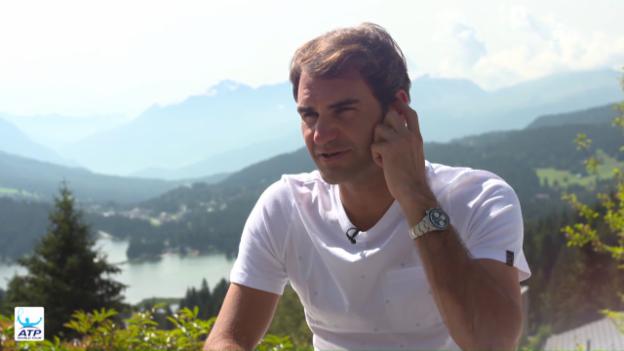 Video «Roger Federer über den Saisonabbruch» abspielen