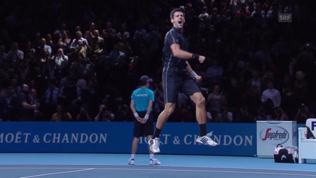 Video «Sehenswerte Punkte von Djokovic in London» abspielen