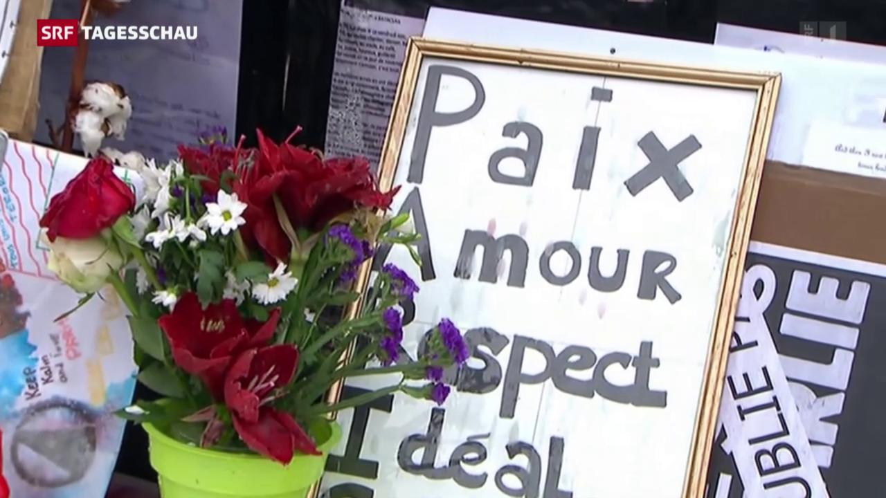 Paris gedenkt der Terroropfer