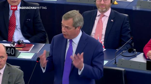 Video «Brexit-Debatte in Strassburg» abspielen