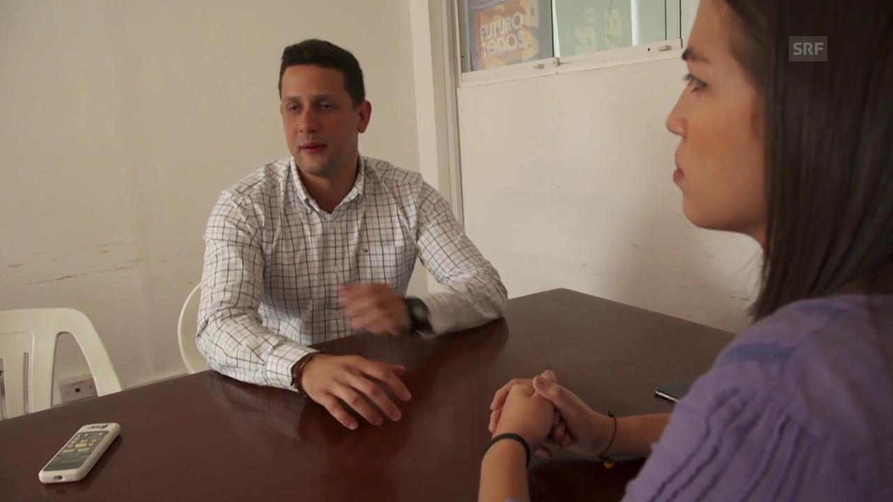 Der Oppositionelle Javier Chirinos sass einen Monat in Haft