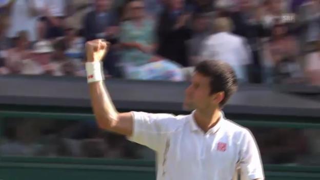 Video «Zusammenfassung Djokovic -Del Potro («sportaktuell»)» abspielen