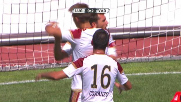 Video «2 Tore innert 7 Minuten: Vaduz schlägt Lugano» abspielen