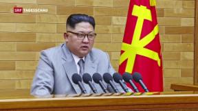 Video «Kim Jong Un droht den USA» abspielen
