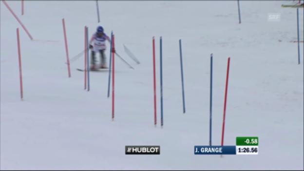 Video «WM-Slalom Männer 2011: Jean-Baptiste Grange» abspielen