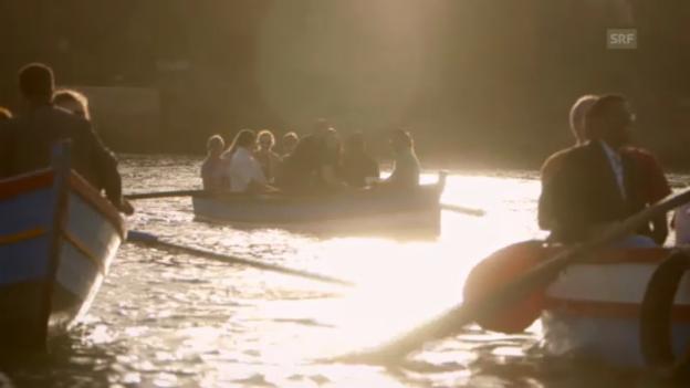 Video «die beiden Chöre singen auf dem Bou Regreg (Ausschnitt aus «Zwei Flüsse - zwei Lieder»)» abspielen
