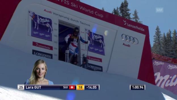 Video «Ski: SL Lenzerheide 2. Lauf Gut» abspielen