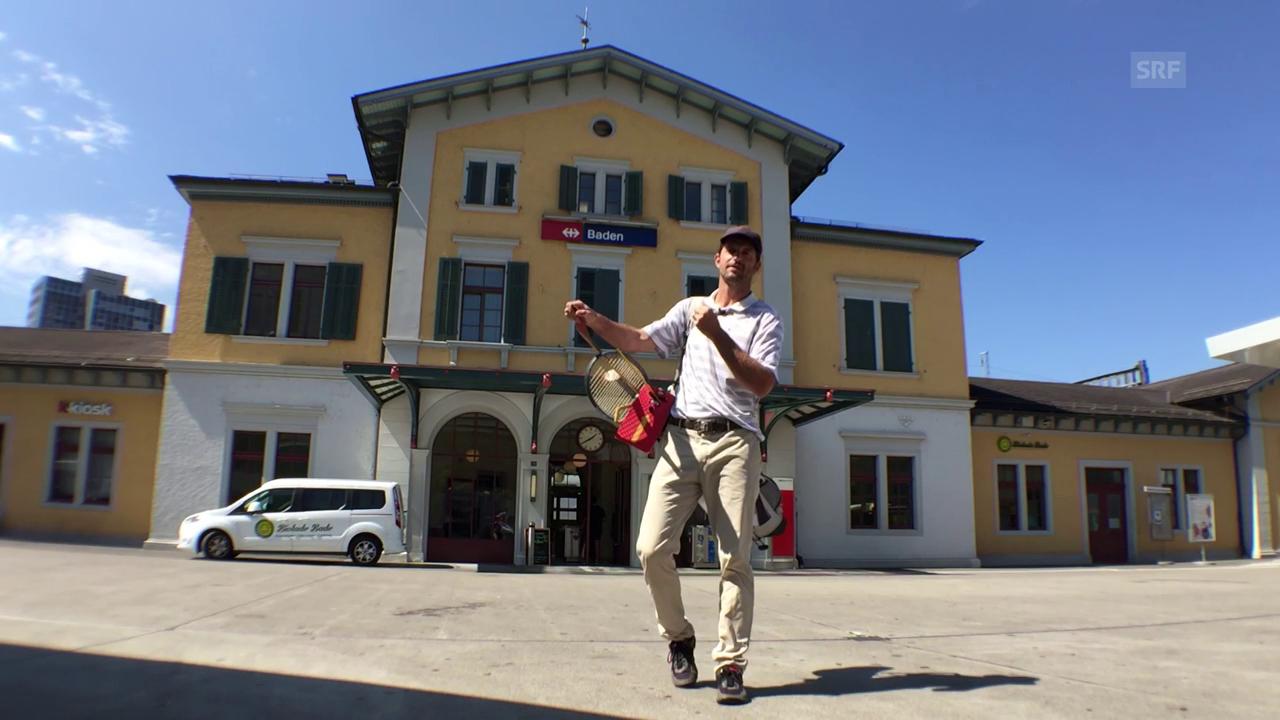 Checkpoint der 4. Etappe: SBB Bahnhof Baden