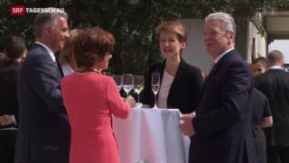 Video «Deutscher Bundespräsident Gauck in der Schweiz» abspielen