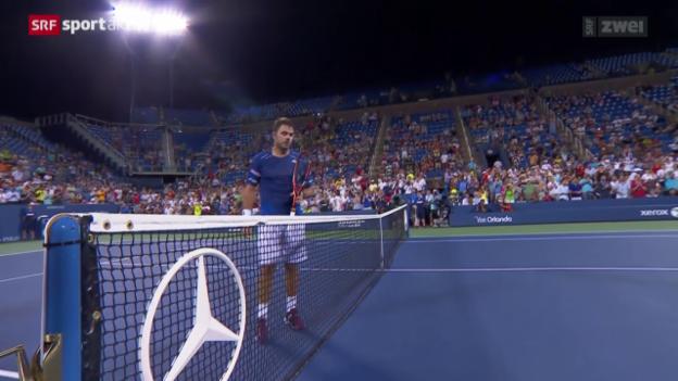 Video «Tennis: Wawrinka siegt gegen Anderson» abspielen