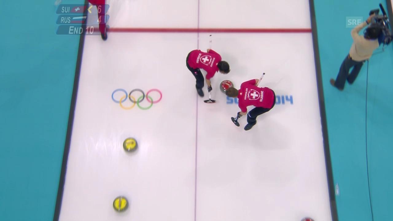 Curling: Schweiz - Russland, der letzte Stein (sotschi direkt, 13.2.2014)