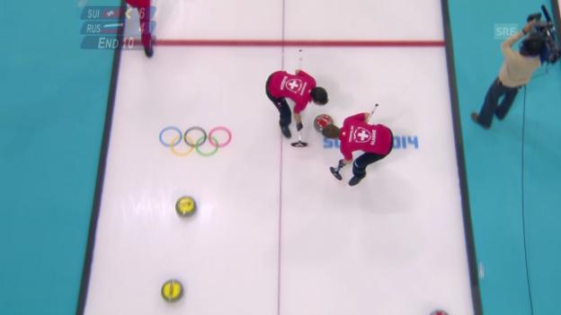 Video «Curling: Schweiz - Russland, der letzte Stein (sotschi direkt, 13.2.2014)» abspielen