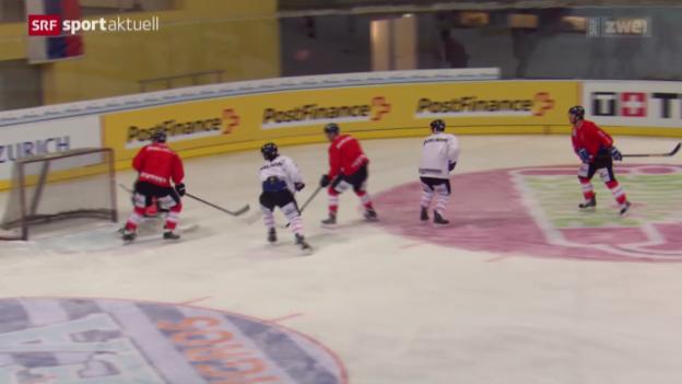 Video «Eishockey: Die Nati vor der Arosa Challenge» abspielen