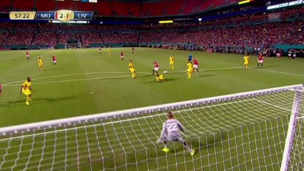 Video «Fussball: Testspiel Manchester United - FC Liverpool» abspielen