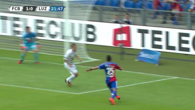 Video «Fussball: SL, FCB-FCL, Assists Derlis Gonzalez» abspielen