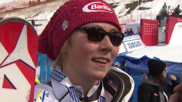 Video «Ski Alpin: Slalom Lenzerheide, Interview Shiffrin («sportlive», 15.03.2014)» abspielen