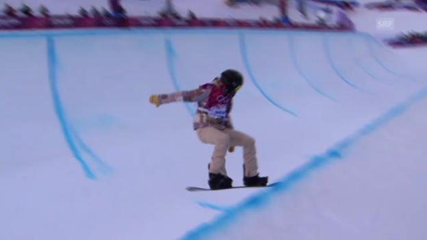 Video «Snowboard: Zusammenfassung Qualifikation Halfpipe Heat 2» abspielen