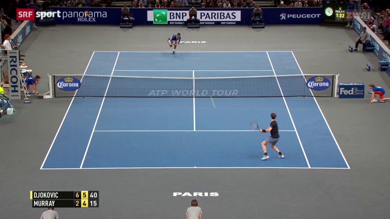 Tennis: ATP 1000 Paris, der Final