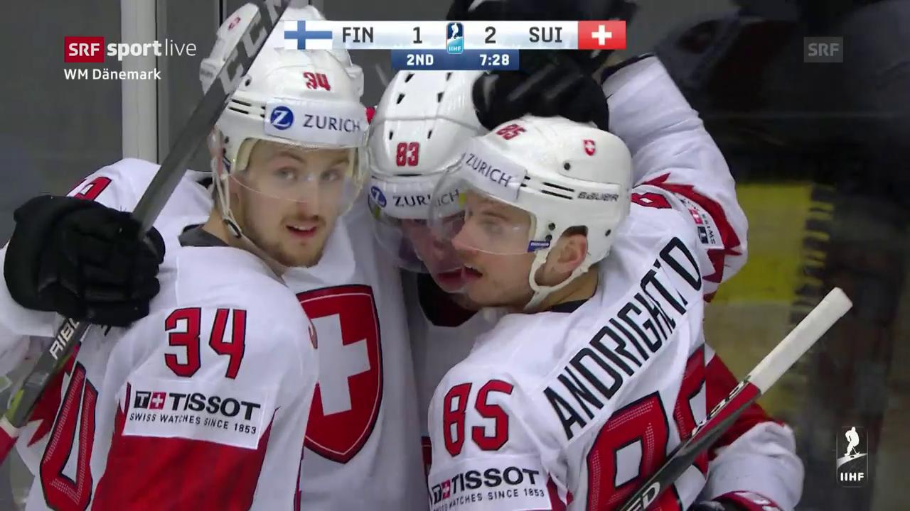 Die Tore beim Schweizer Sieg gegen Finnland