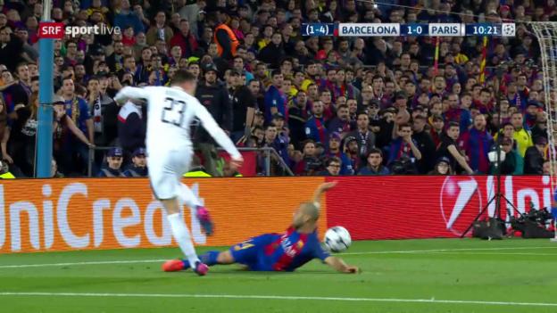 Video «Draxlers Hereingabe prallt an Mascheranos Arm» abspielen