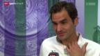 Video «Tennis: Wimbledon, Interview mit Roger Federer» abspielen
