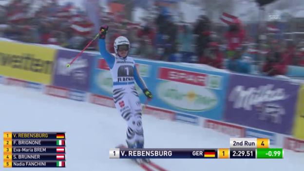 Video «Viktoria Rebensburg fährt überlegen zum Sieg» abspielen