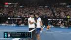 Video «Djokovic muss sich Chung geschlagen geben» abspielen
