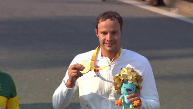 Video «Marcel Hug gewinnt seine zweite Goldmedaille» abspielen
