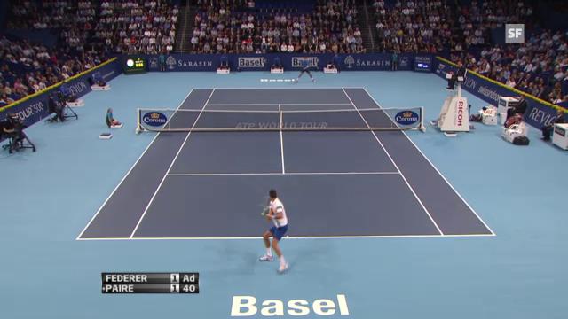 Federer-Paire: Entscheidende Ballwechsel.